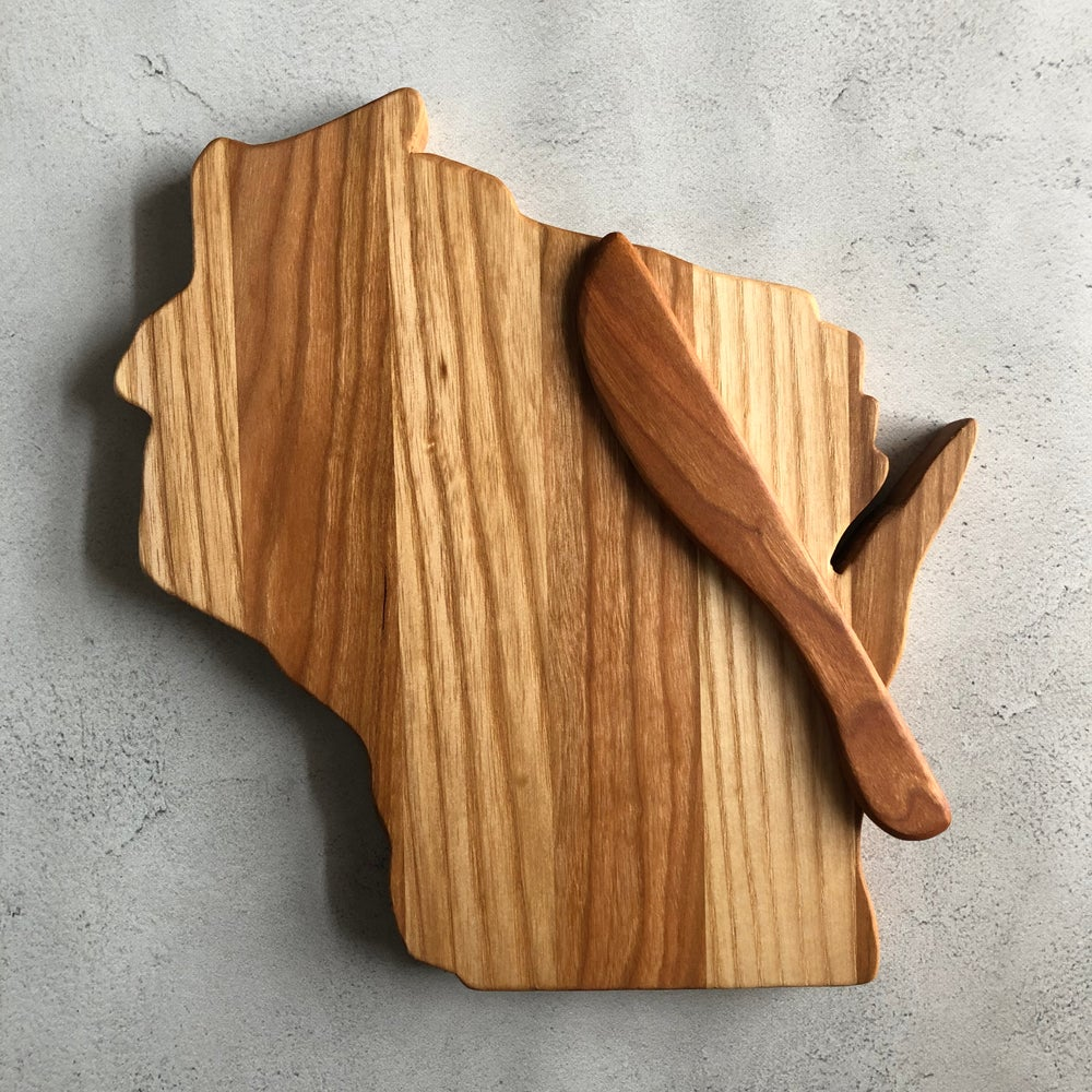 Image of Ash and Cherry Wisconsin Cutting Board