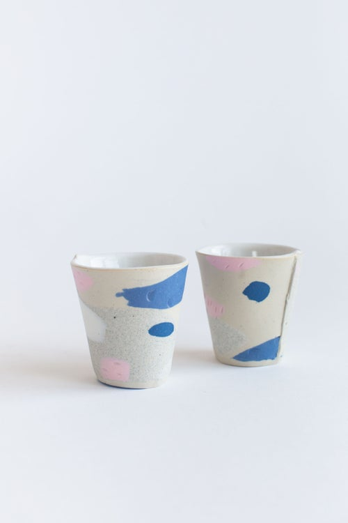 Image of Mini Party Tumbler - Cobalt and bubblegum Pink