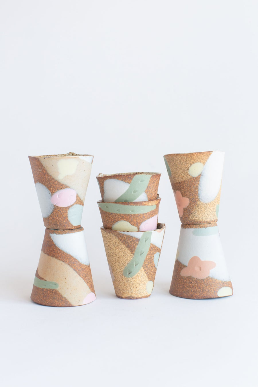 Image of Desert Sand, Peach Flowers and Sage Leaves - Tumbler