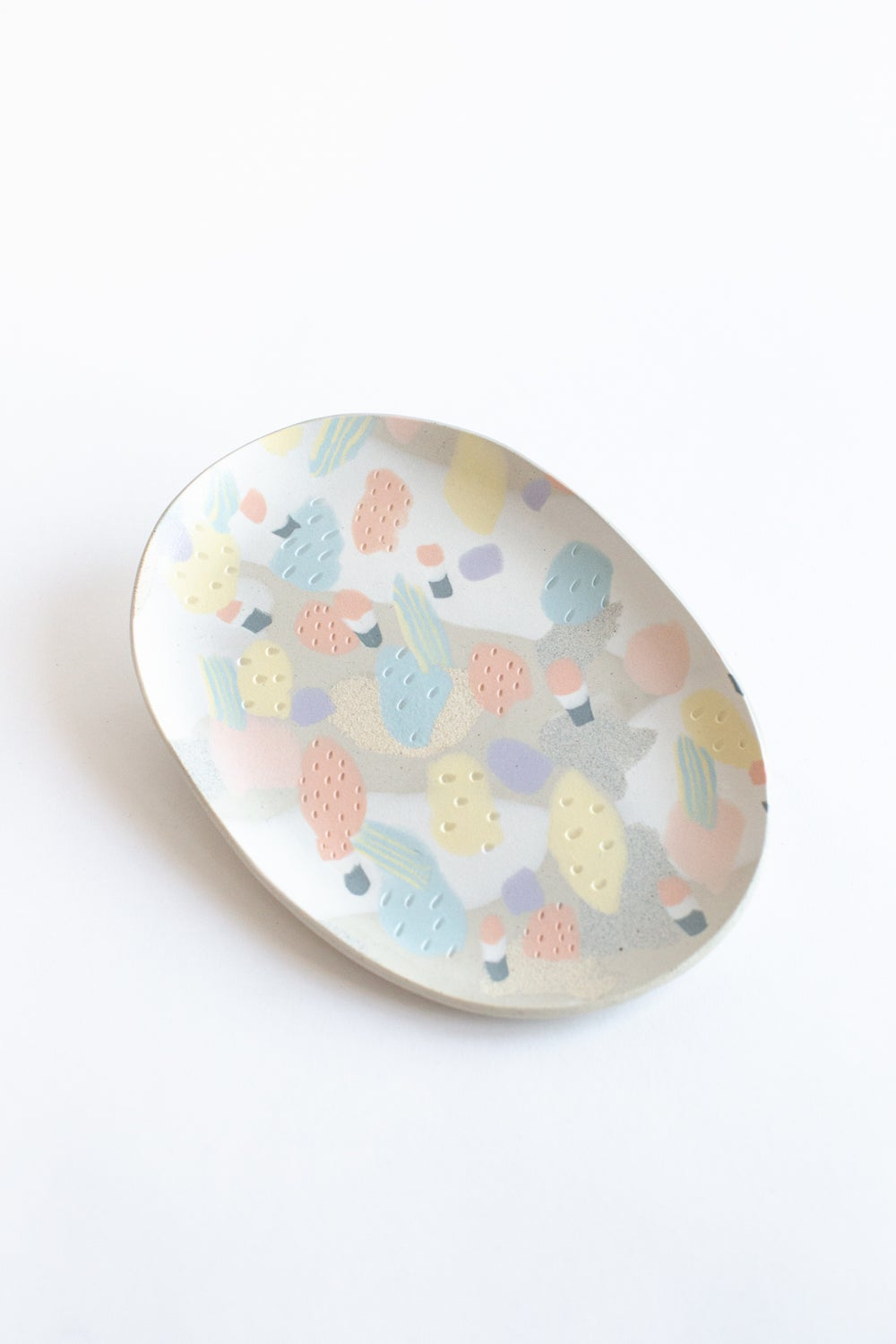 Image of French Candy Shop Pastel - Oval Porcelain Inlay Serving Platter