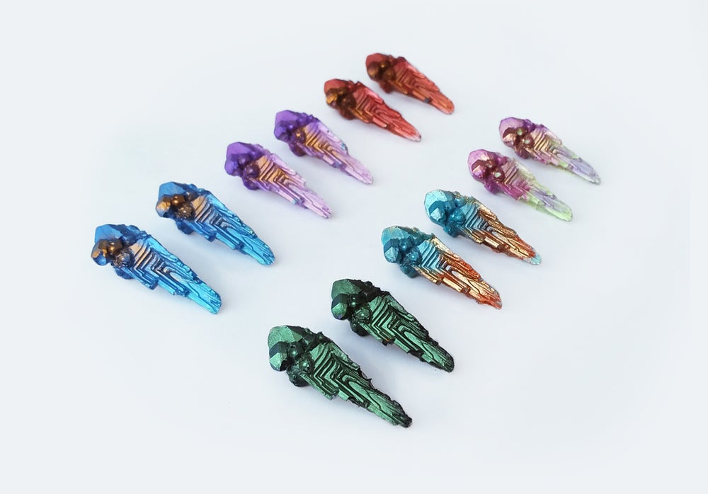 Image of NEW! Citadel Stud Earrings // Assorted colours // NOCTURNE