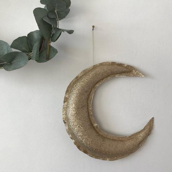 Image of Lune dorée pailletée