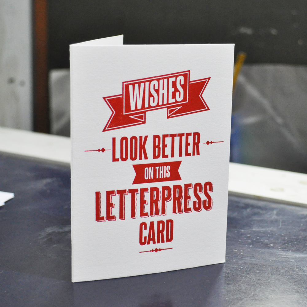 Image of Letterpress Greeting card