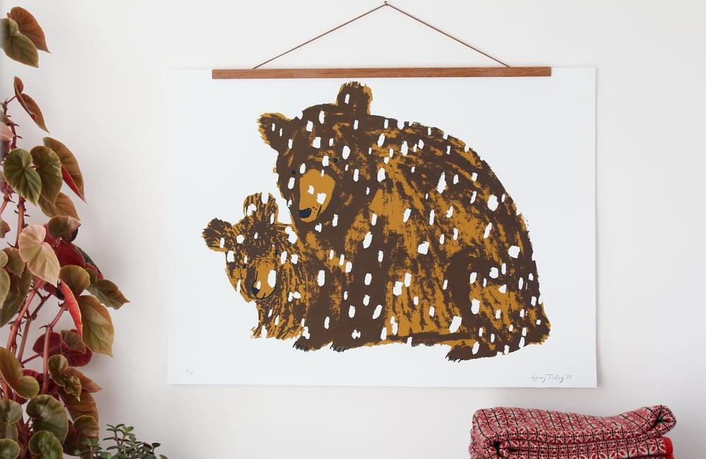 Image of Bear and Cub screenprint