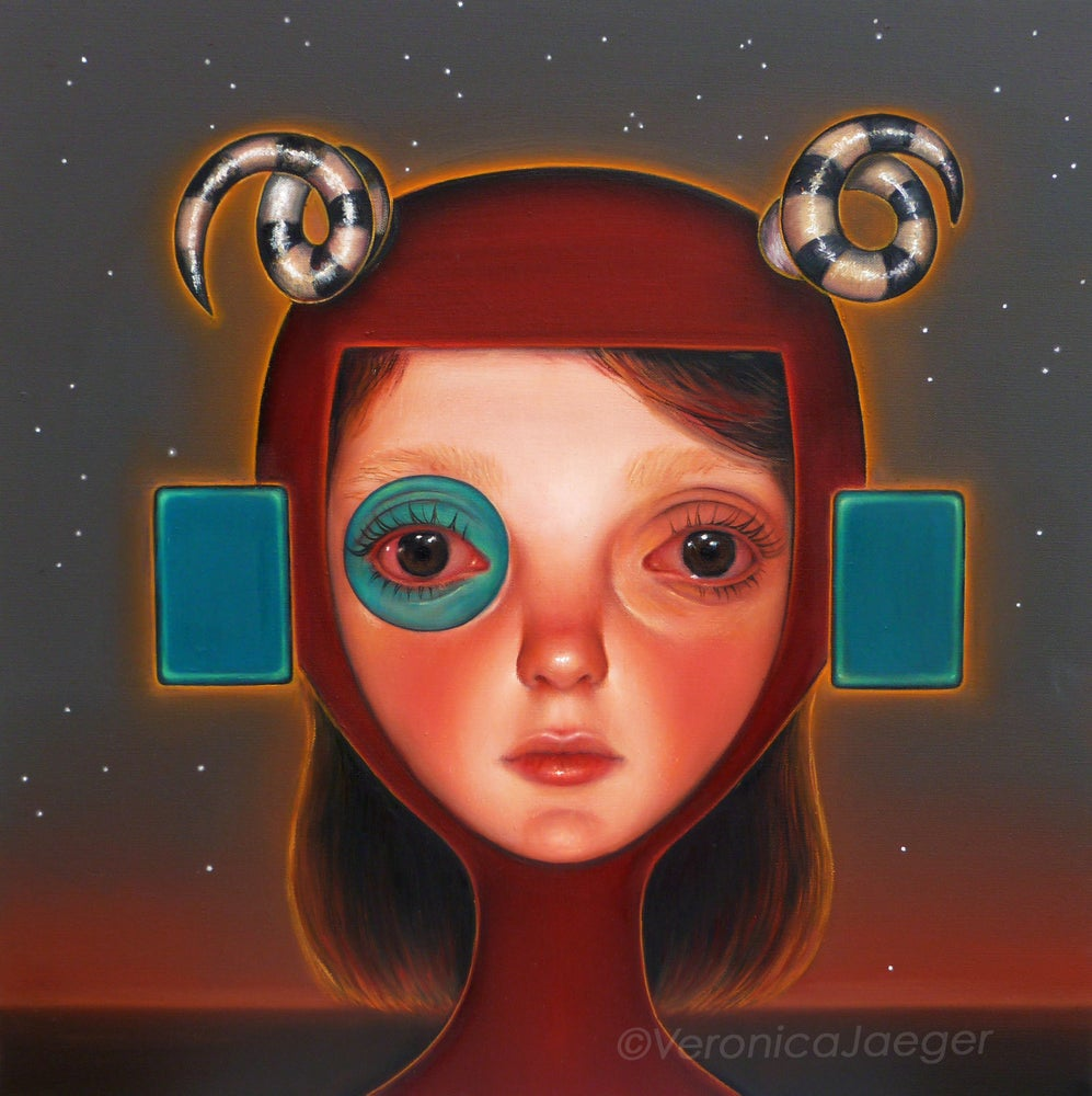 Image of Lunar Girl (giclee print)