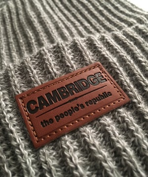 Image of NEW RELEASE Cambridge Leather Patch Skully w/pom pom