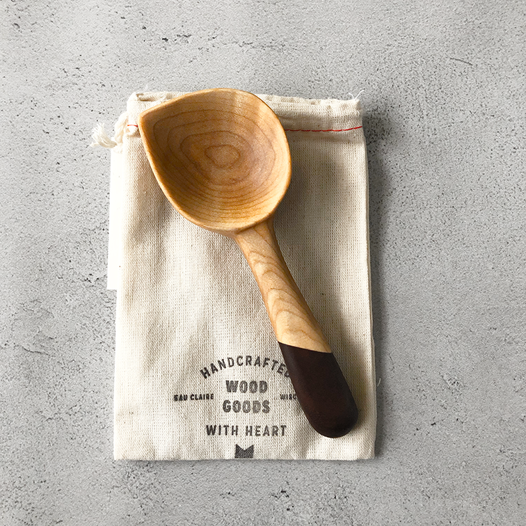 Image of Curly maple and walnut coffee scoop