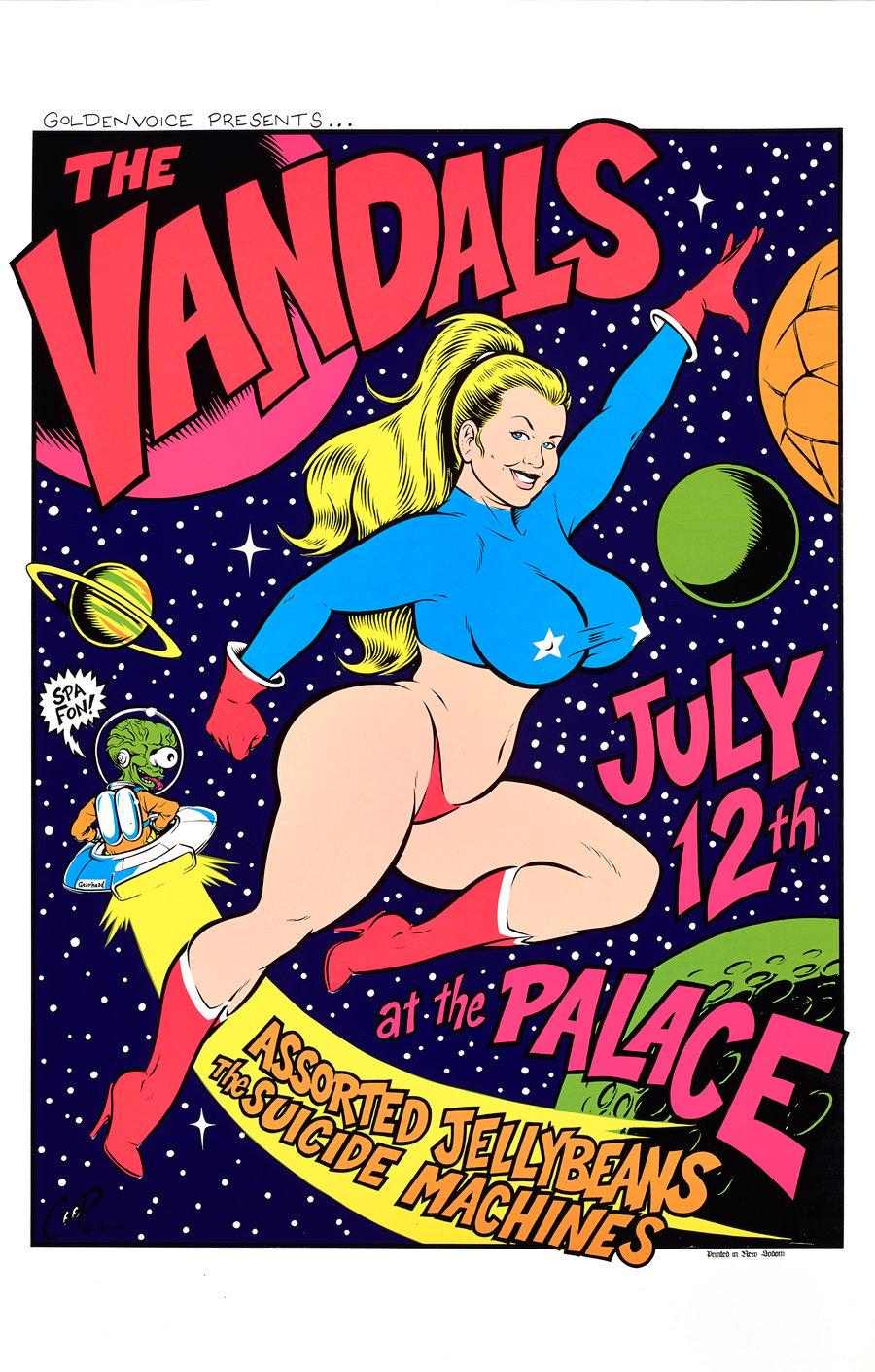 Image of VANDALS vintage silkscreen print