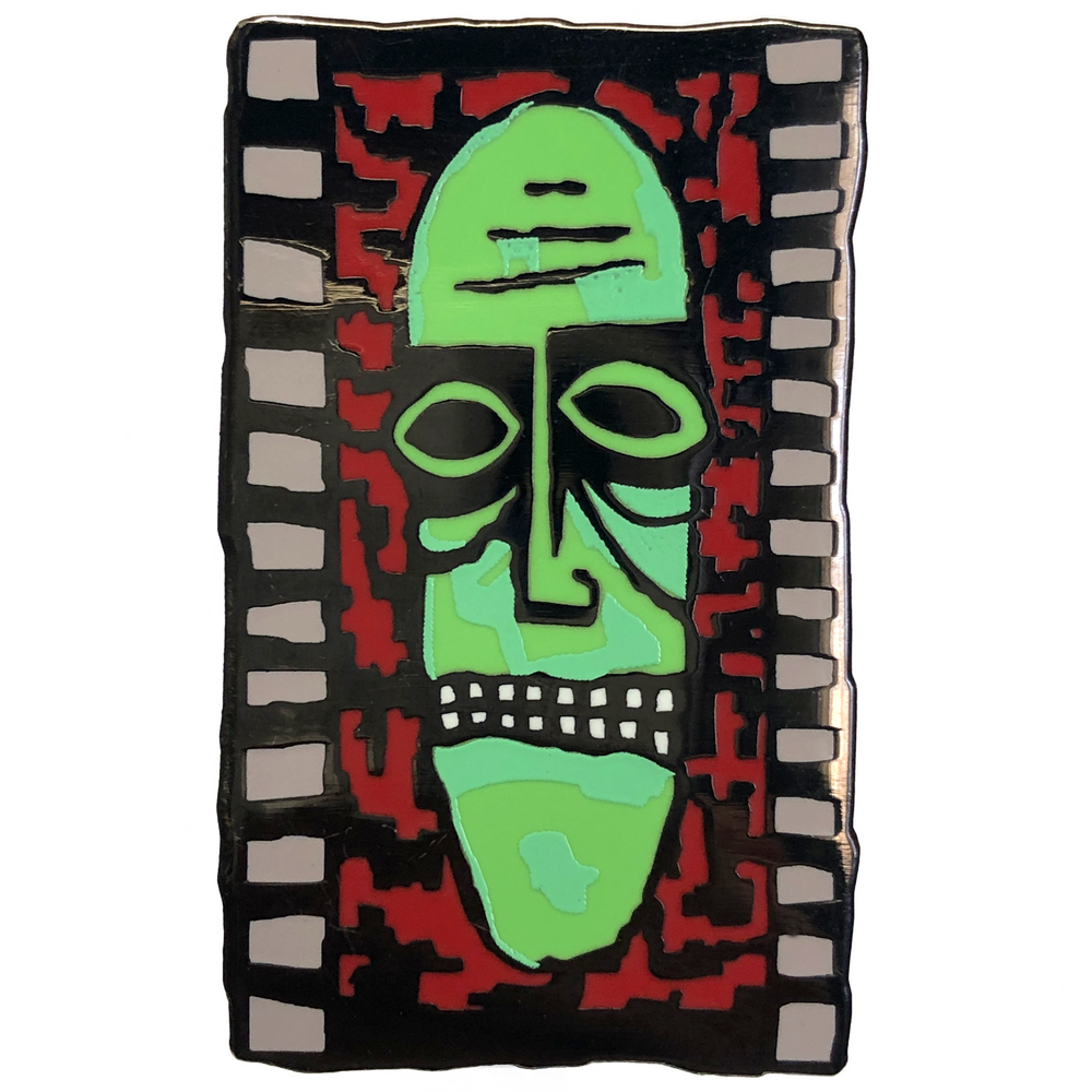"Image of ""Zombie Head Mural"" MTV 90s Enamel Pin"