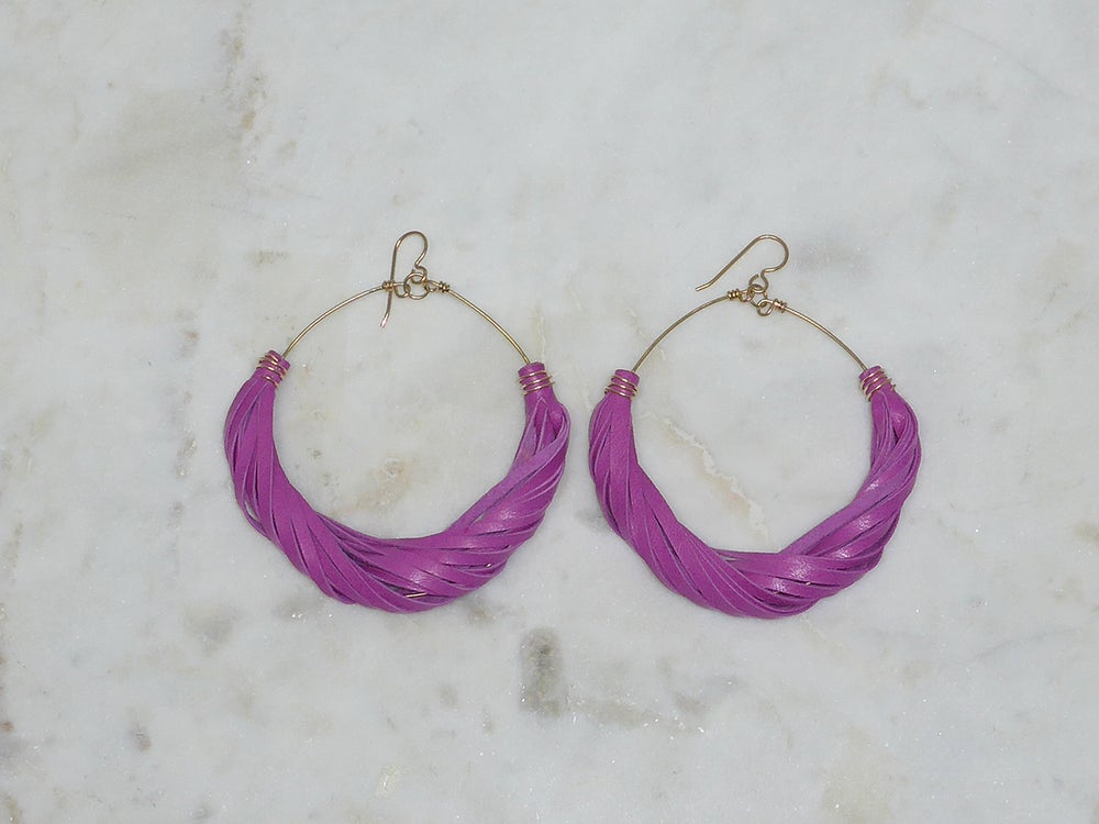 Image of Rebel Chic Vibrant Hoop Earrings