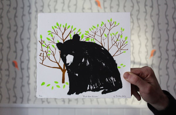 Image of Black Bear Returns limited edition screen print