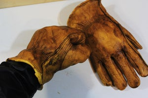 Image of Vintage look Waxed Leather gloves