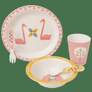 Image of Fresk Bamboo Mealtime Set - Swan