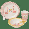 Fresk Bamboo Mealtime Set - Swan
