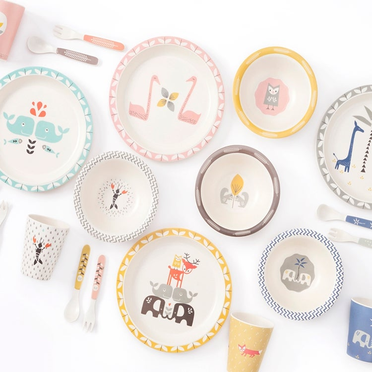 Image of Fresk Bamboo Mealtime Set - Whales