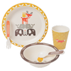 Fresk Bamboo Mealtime Set - Forest Friends