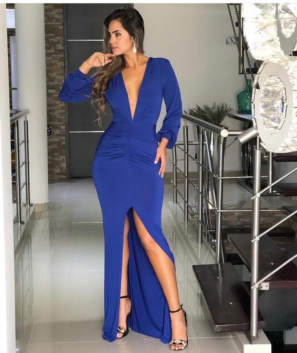 Image of Take Risk Long Couture Dress
