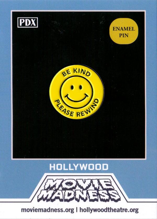 Image of Be Kind, Rewind Enamel Pin
