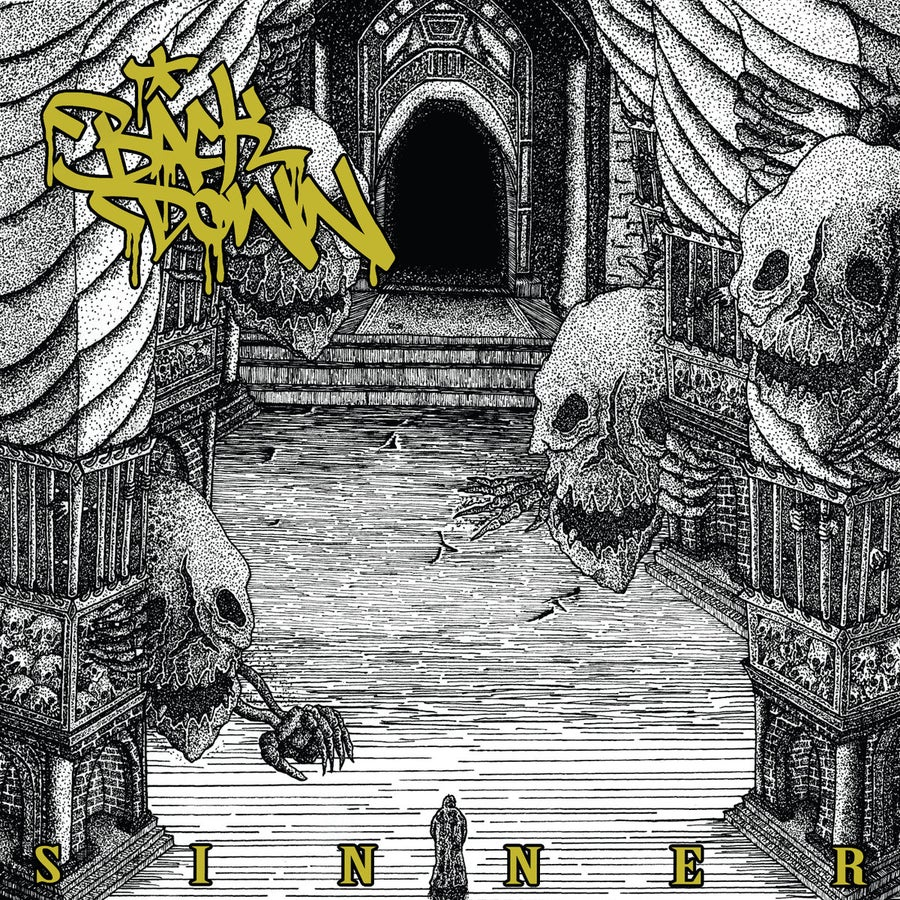 "Image of Back Down - Sinner 10"" Black / Yellow Split Vinyl"