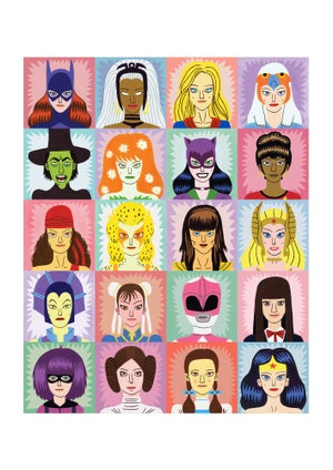 Image of Heroines and Villains - A2 print