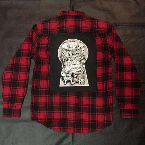Image of SK Hand Sewn Council Patch Flannel