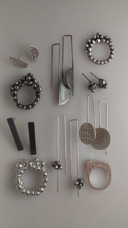 Image of Silver Bubble Earrings