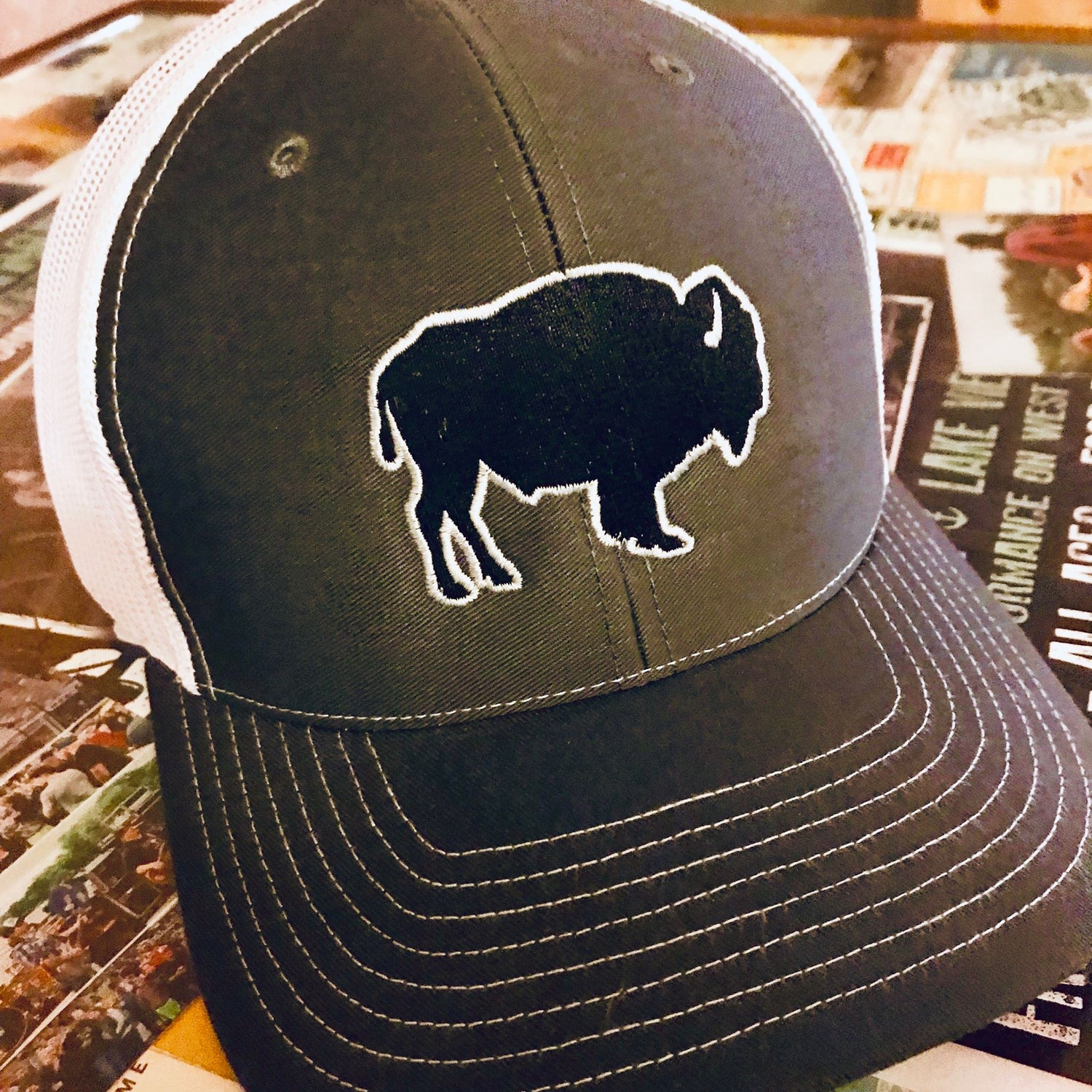 Image of Bison Silhouette Snap Back