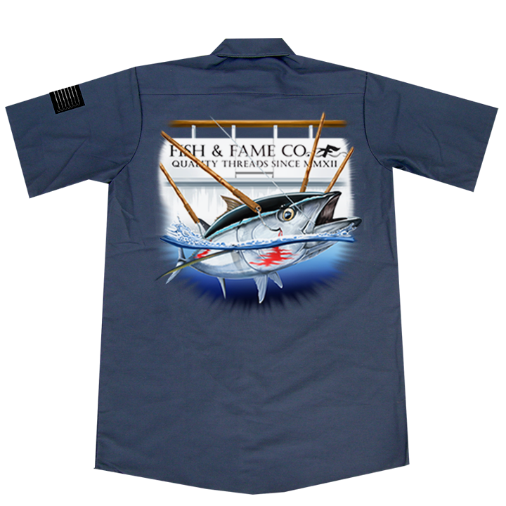 Image of Blue Fin Tuna Crew Shirt (gun metal)