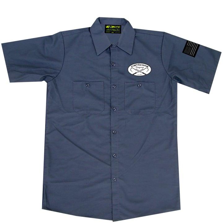 Image of Blue Fin Tuna Crew Shirt (gun metal)