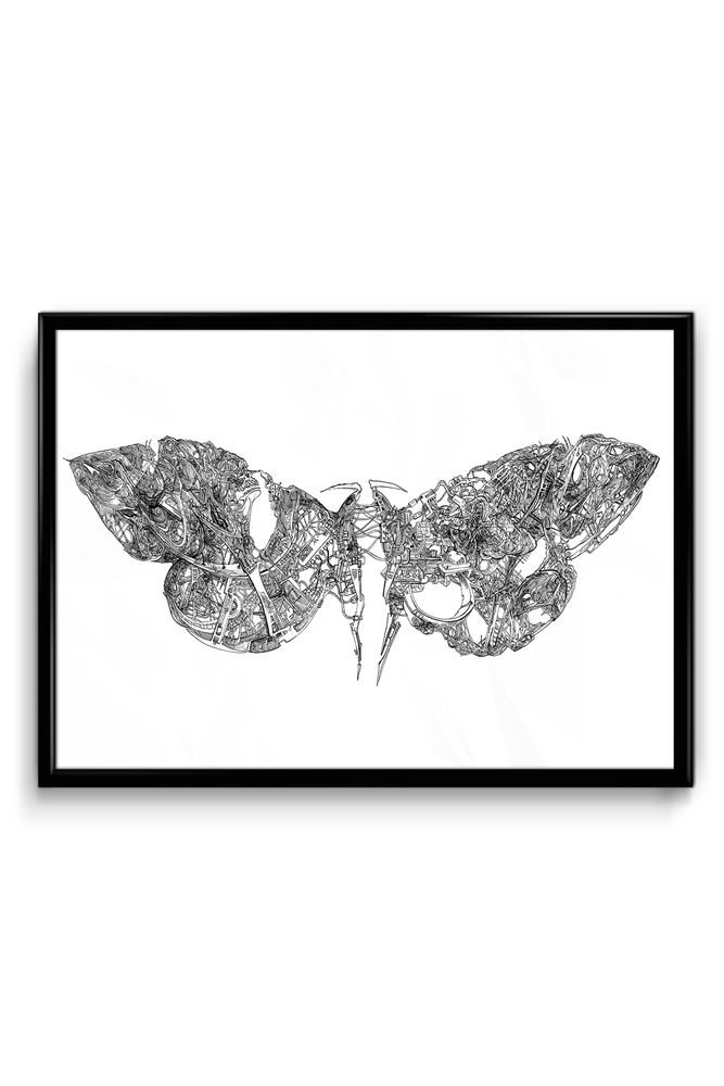 "Image of ""MOTH MACHINE"" SIGNED PRINT"