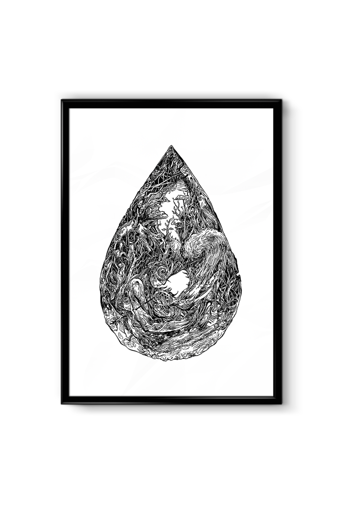 "Image of ""A DROP"" - Signed Print"
