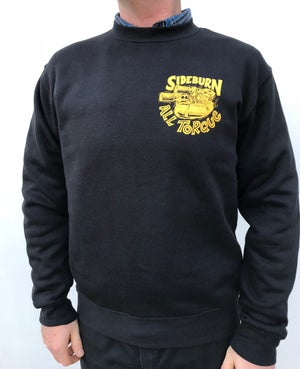 Image of All Torque Crewneck Sweat - BLACK - ONLY L LEFT