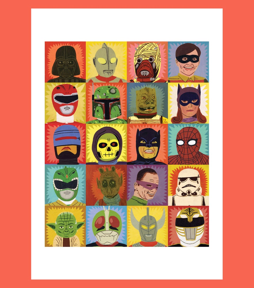 Image of Heroes and Villains - A2 Print