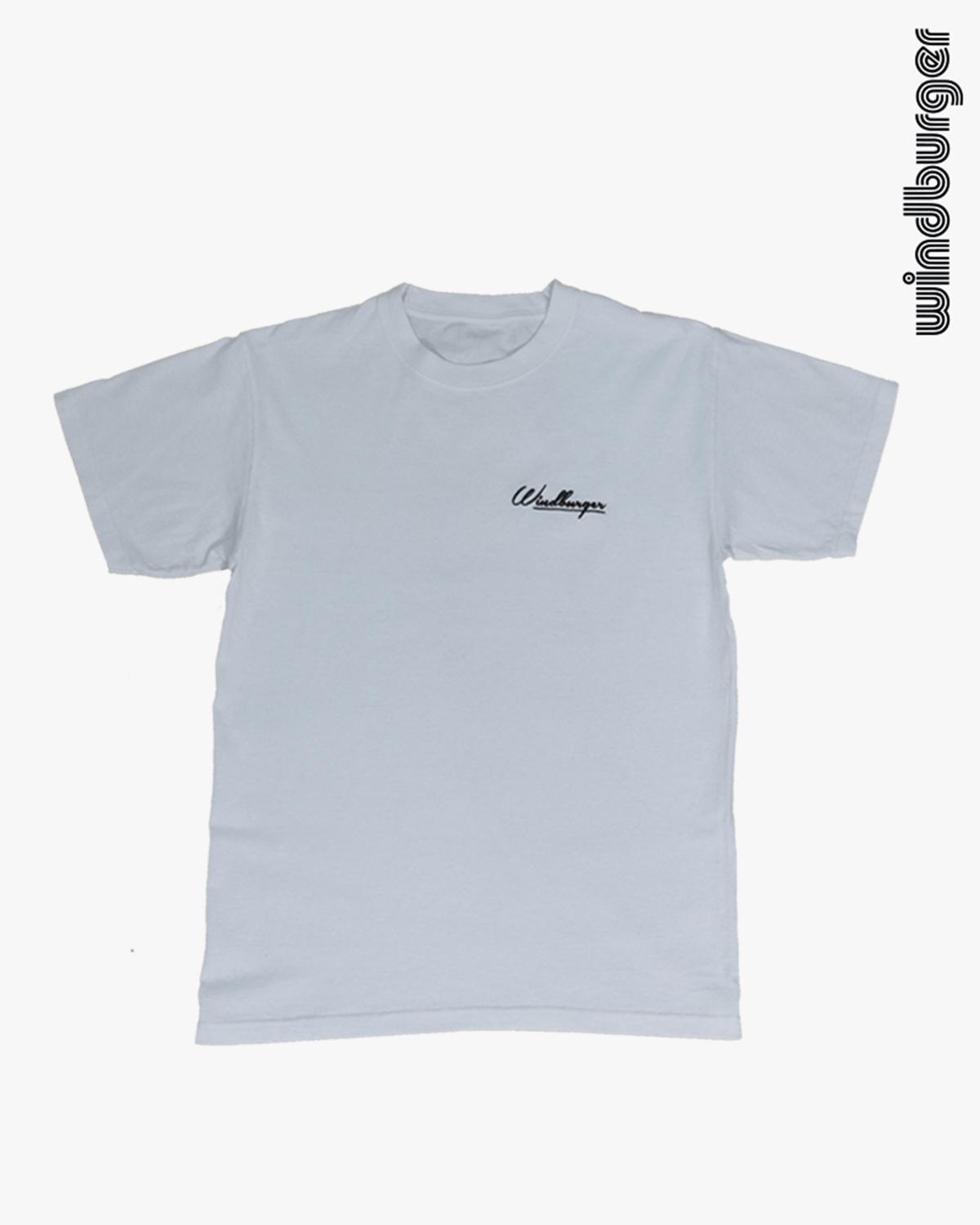 Image of white windburger t-shirt