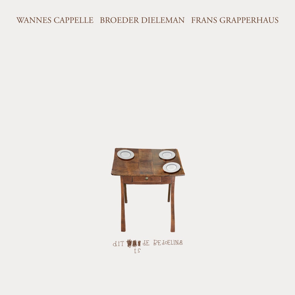 Image of WANNES CAPPELLE, BROEDER DIELEMAN, FRANS GRAPPERHAUS – DIT IS DE BEDOELING (CD)