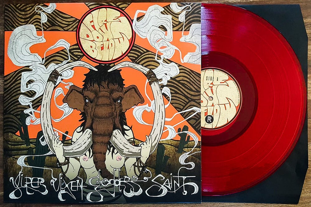 "Image of Fire Down Below - Viper Vixen Goddess Saint Hellfire Limited ""Fire Red"" Vinyl LP"