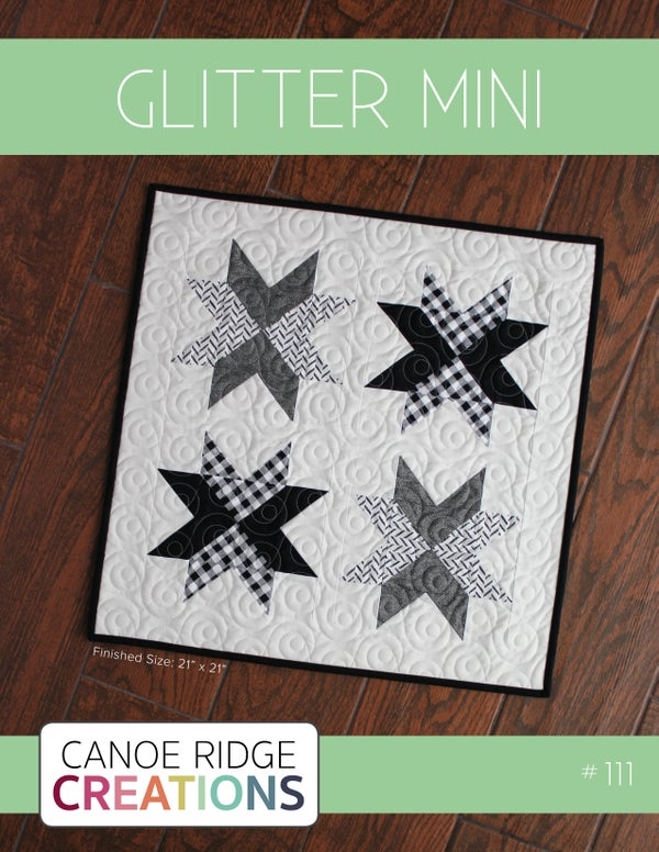 Image of Glitter Mini Quilt #111, PDF Pattern