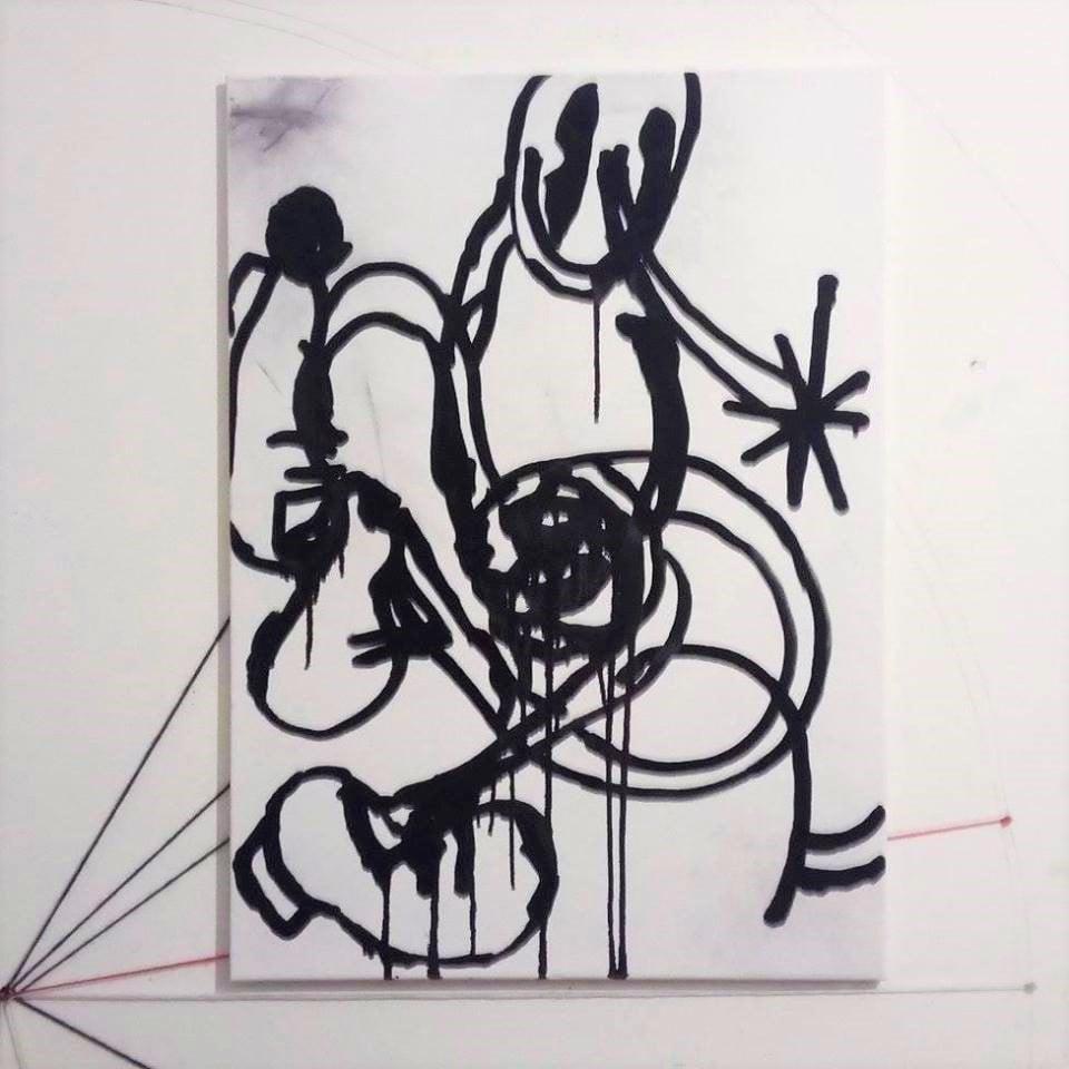 Image of Frank, 2018, tecnica mista su tela. 50*70 cm