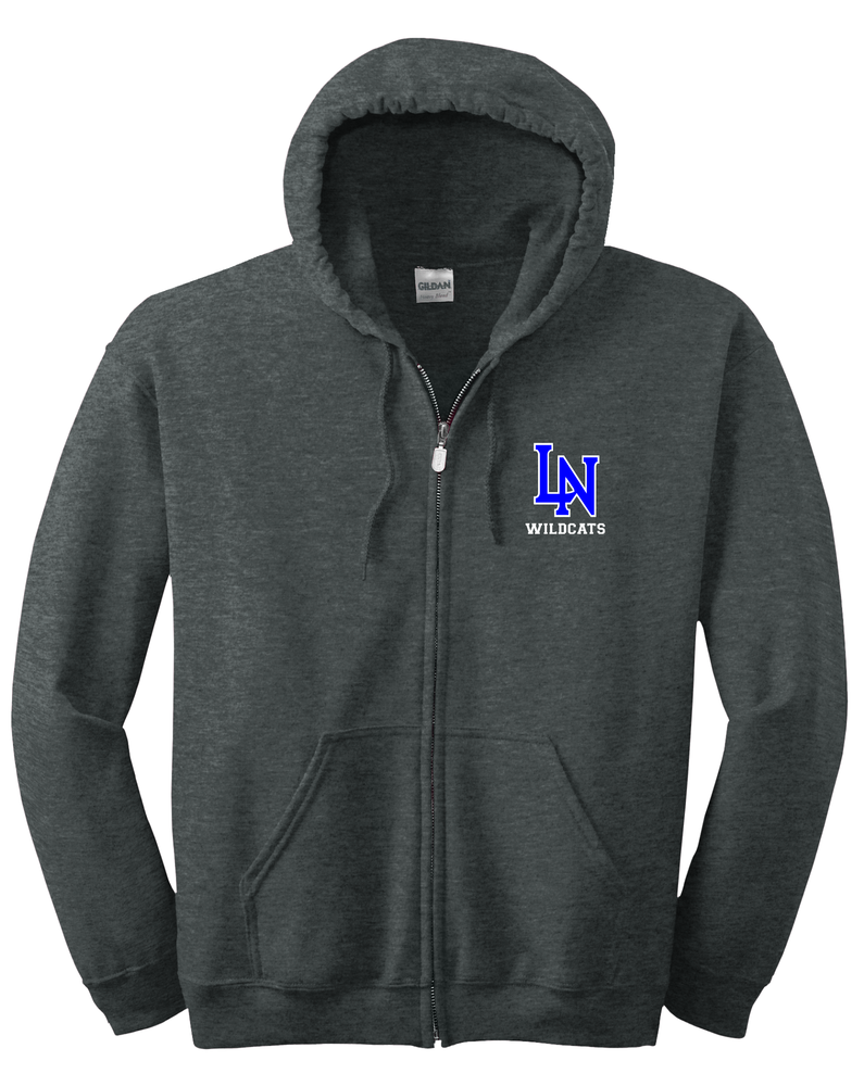 Image of Full Zip Hoodie Embroidered with LN WILDCATS