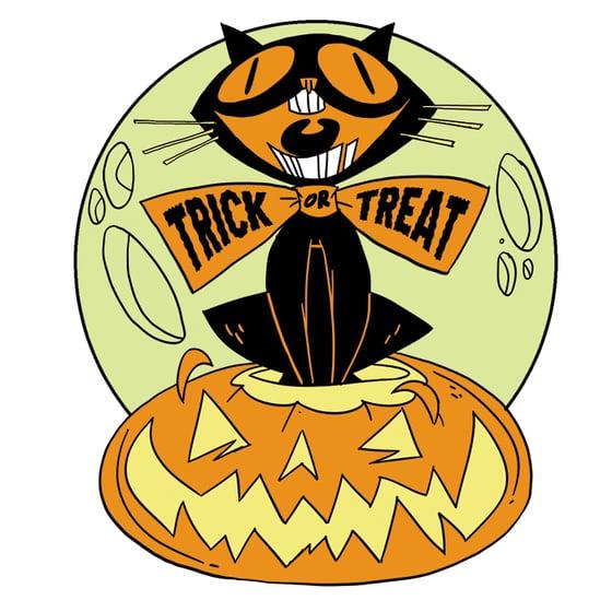 Image of Mr. Jinx The Halloween Cat Enamel Pin