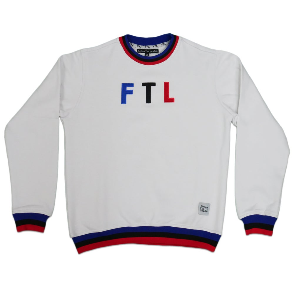 Image of Sports Crewneck Sweater (White)