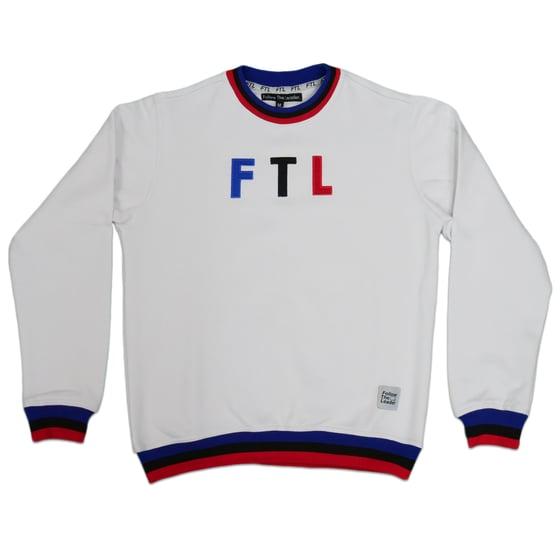 Image of Sports Crewneck Sweater (White)