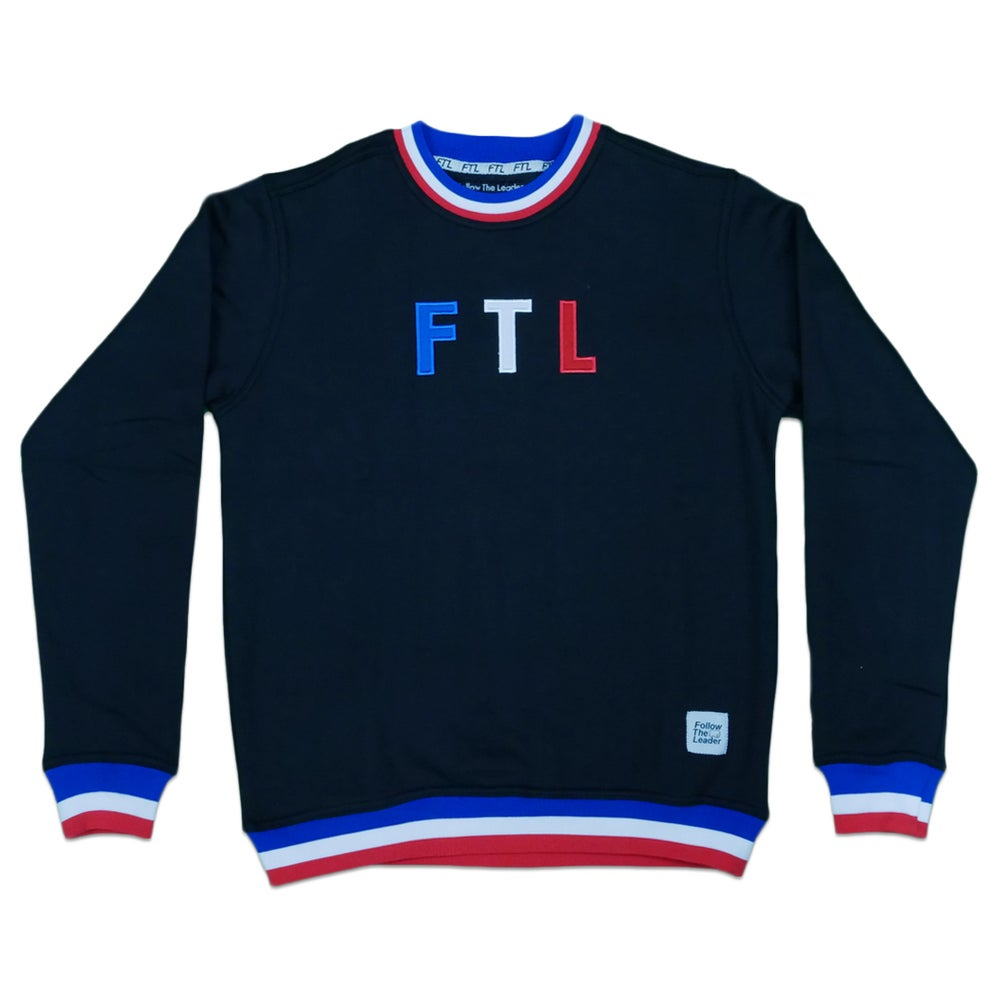 Image of Sports Crewneck Sweater (Black)