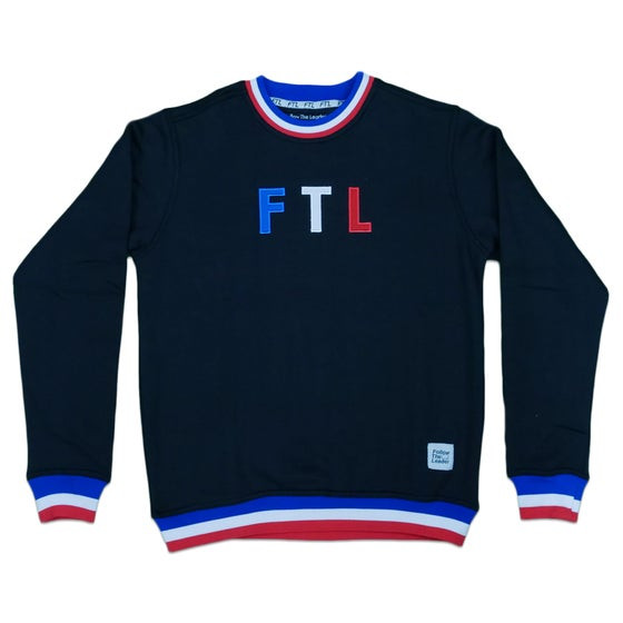 Image of Sports Crewneck Sweater (Black)
