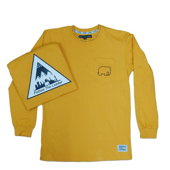 Image of Long Sleeve Pocket Shirt (Gold)