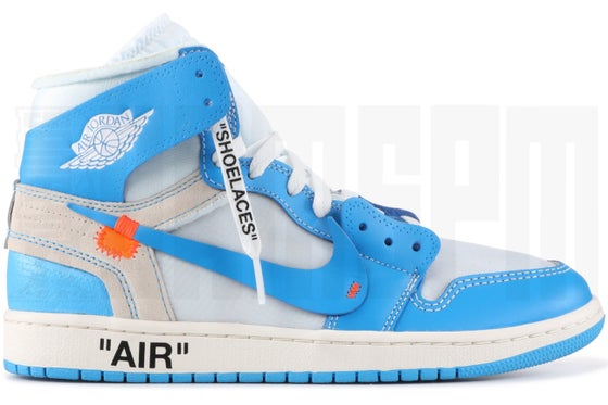 "Image of Nike AIR JORDAN 1 x OFF-WHITE NRG ""UNC"""
