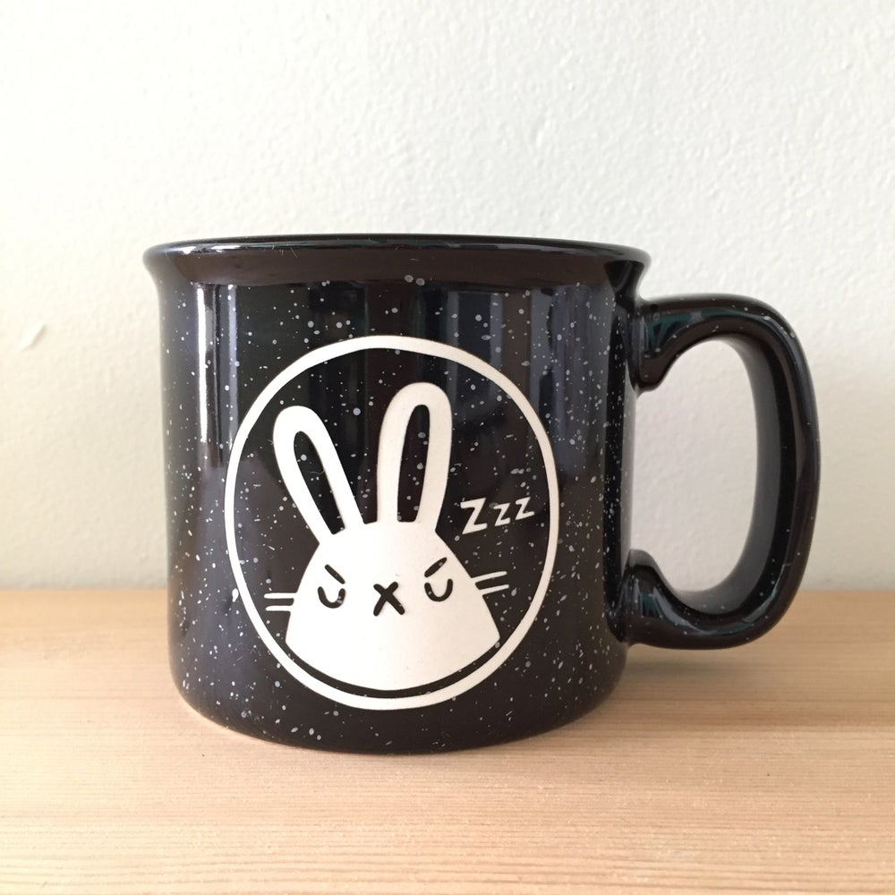 Image of sleepy grumps bunneh camp mug