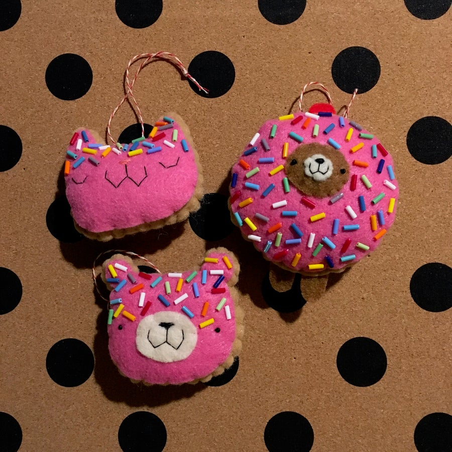 Image of donut animal ornaments 2018
