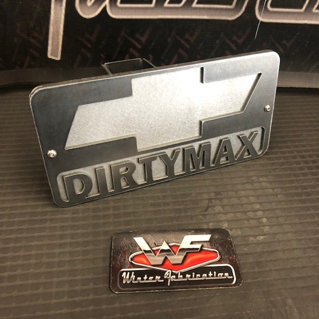 "Image of Chevy ""DIRTYMAX"" - Two Layer Hitch Cover"