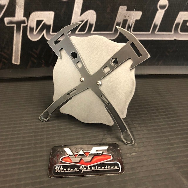 Image of Fire Axe and Shield - Two Layer Hitch Cover